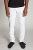 5-Pocket Skinny Twill Pants (White)