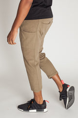 Cropped Slouchy Sweats (Olive)