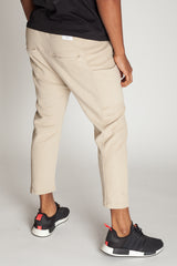 Cropped Slouchy Sweats (Sand)