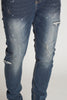 Tapered Jeans with Paint Splatter (Indigo)