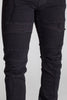 Distressed Biker Jeans (Black)