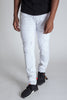 Distressed Knee Slim Pants (White)