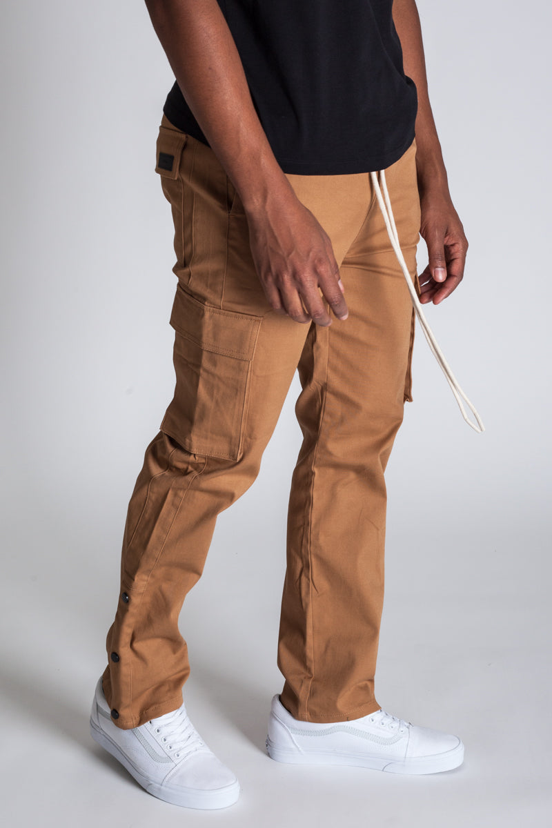 Snap Opening Cargo Pants (Timber)