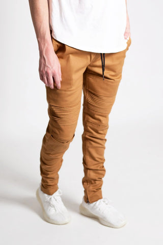 Ankle Zip Moto Pants (Timber)