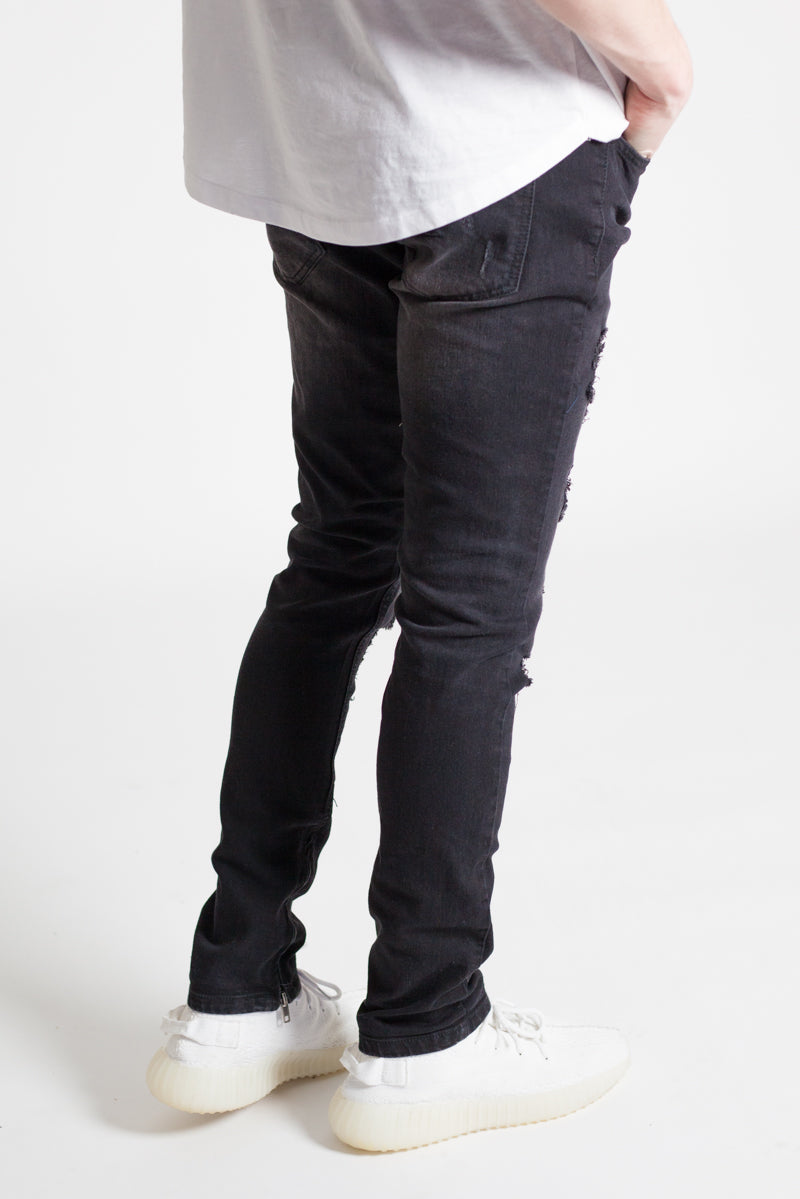 Destroyed Skinny Jeans (Black)