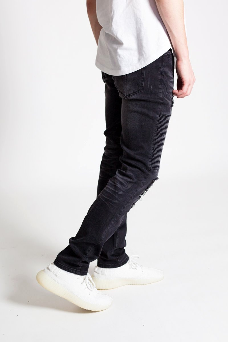 Destroyed Biker Jeans (Black)