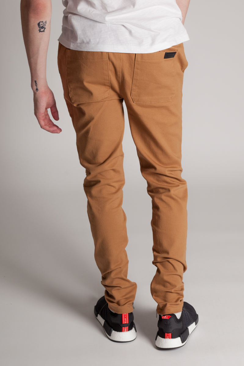 Ankle Zip Jeans (Camel)