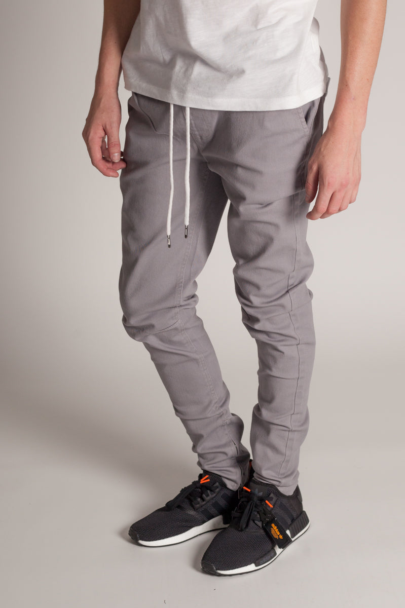 Ankle Zip Jeans (Grey)