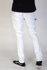Distressed Moto Pants (White)