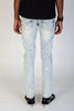 Destroyed and Distressed Skinny Jeans (Ice Blue)