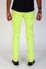 Destroyed Pants With Drawstring (Lime)