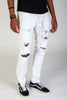 Destroyed Pants With Drawstring (White)