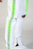 Safety Taped Pants (White/Lime)