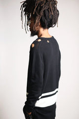 Striped Long Sweater (Black)-KDNK-KDNK-KDNKbrand.com-KDNK brand