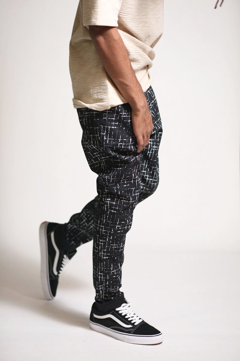 Noise Box Tapered Chinos (Black)-Kayden K-KDNK-KDNKbrand.com-KDNK brand