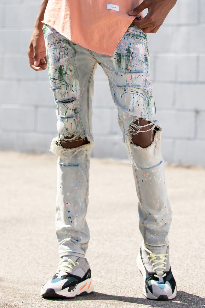 Multi Painter's Jeans (Blue)