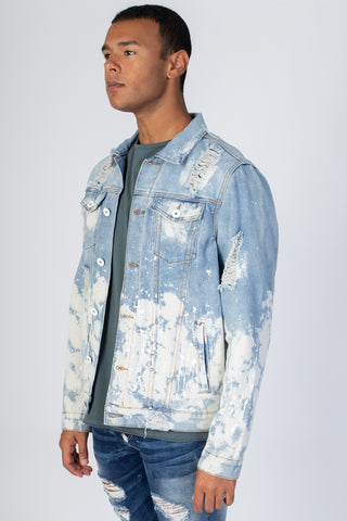 Painter's Distressed Denim Jacket (Blue)