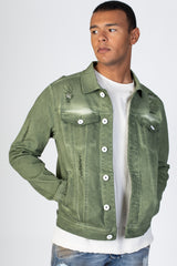 Colored Twill Jacket (Olive)
