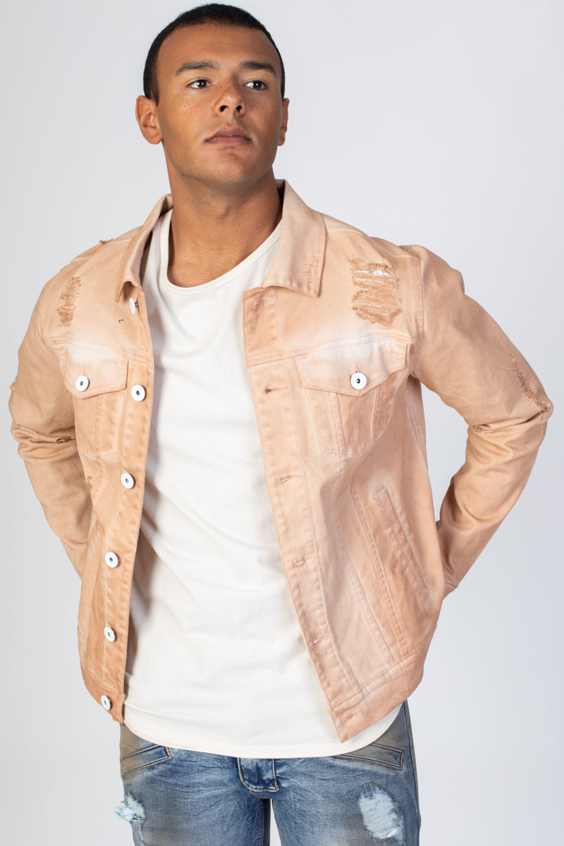 Colored Twill Jacket (Pink)