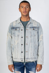 Distressed Denim Jacket (Vintage Lt. Blue)