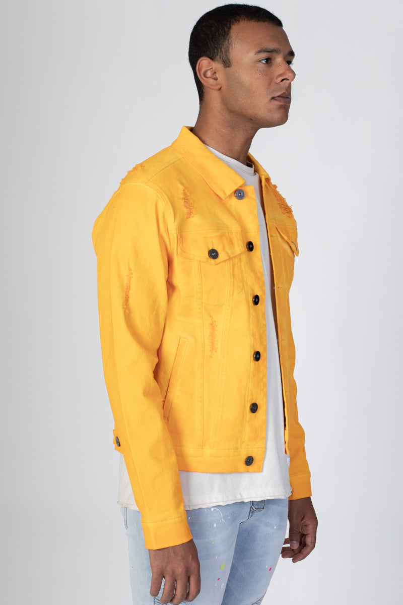 Colored Twill Jacket (Yellow)