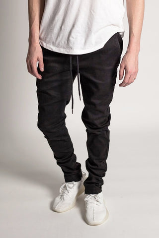 Ankle Zip Jeans (Black)