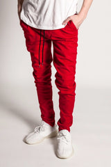 Ankle Zip Jeans (Red)