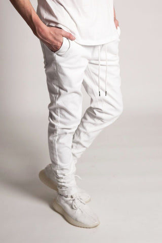 Ankle Zip Jeans (White)