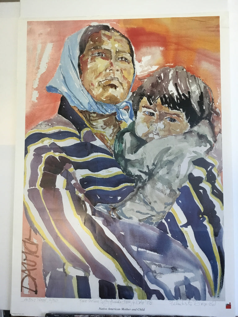 Special offer - Artist proof, signed, Native American Mother and Child