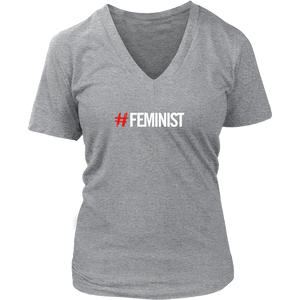 # Feminist Women's V Neck T Shirt