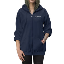 Matriarch Embroidered Zip Up Hoodie Navy/White