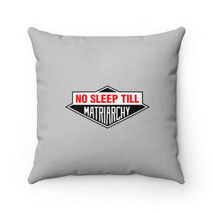 No Sleep Till Faux Suede Square Pillow