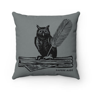 Sapere Aude (Dare To Know) Faux Suede Square Pillow