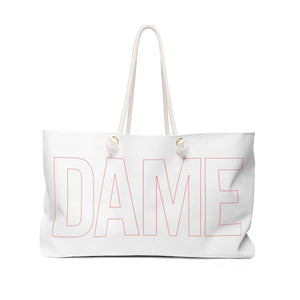 DAME Outline Logo Weekender Bag