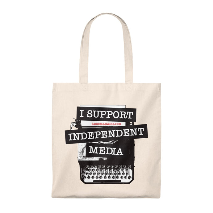 I Support Independent Media Tote Bag