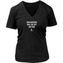Gaslighters Beware Women's V Neck  T-Shirt