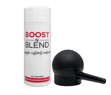 Boost N Blend™ 25g Bottle of Female Hair Fibres with NEW Applicator Bundle
