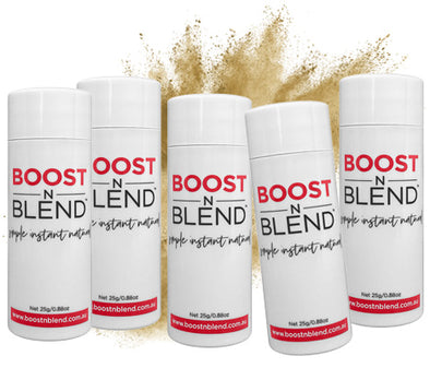 Bulk Buy Buff Blonde Hair Fibres. 5 Bottles for the price of 4.
