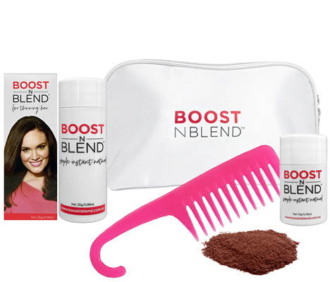 Boost N Blend™ Gift Pack WITH COMB - Warm Cinnamon Brown
