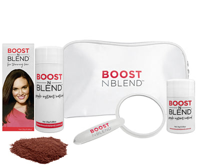 Boost N Blend Female Hair Loss Fibres Cinnamon Brown Gift Pack