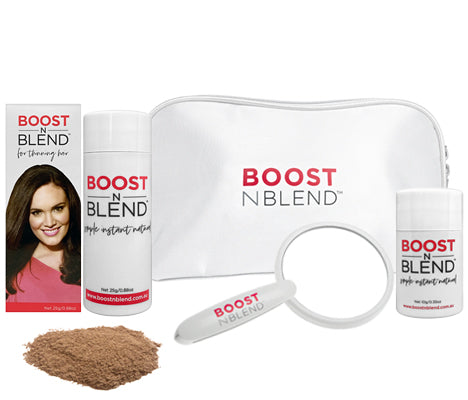 Boost N Blend Female Hair Loss Fibres  Light Brown