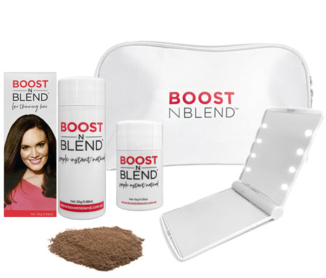 Boost N Blend™ LED Mirror Bundle Gift Pack - Smooth Medium Brown