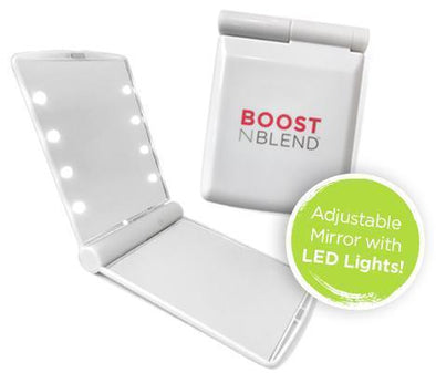 Boost N Blend™ LED Travel Mirror