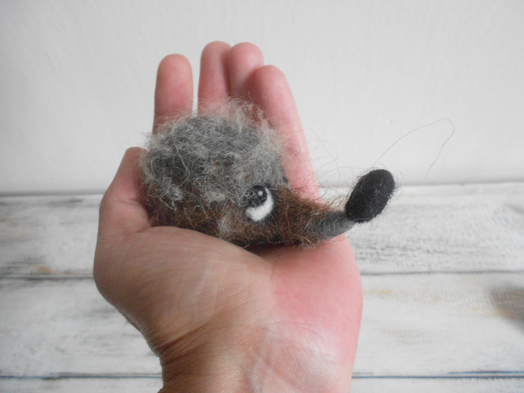 Needle felted hedgehog - hedgehog magnet