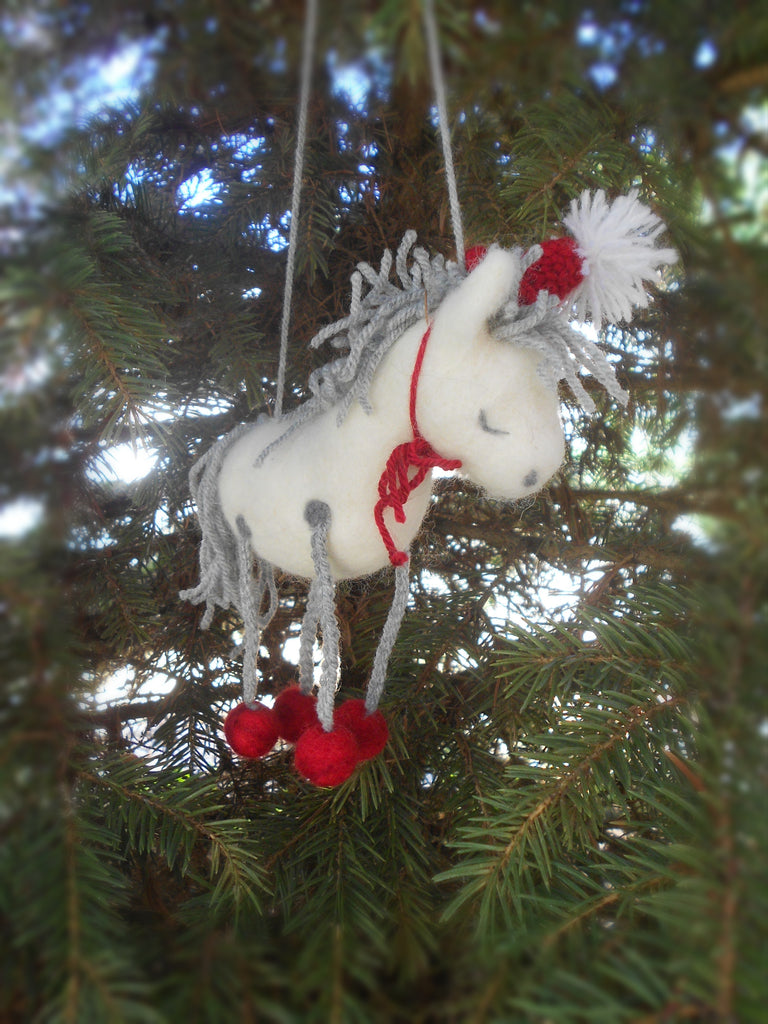 Christmas decoration horse - Gift for a horse lover - Horse figurine