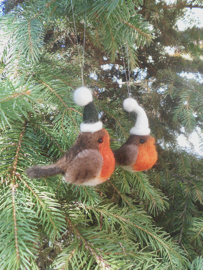 Christmas Robin ornament - Robin tree ornament - Holiday decoration
