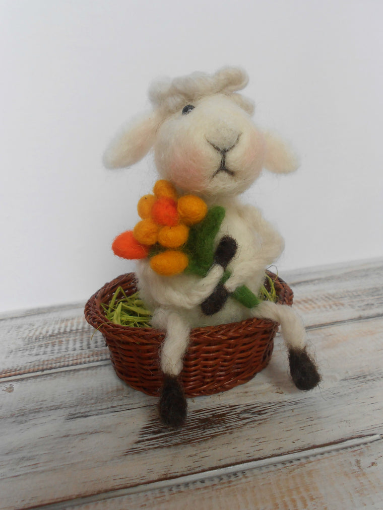 Easter lamb, Needle felted lamb, Easter decor, Easter sheep, Cute lamb, Lamb decor, Kids room decor,  Gift for animal lovers