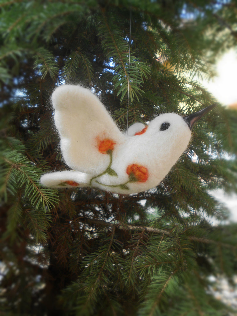 Country chic decor, Whimsical bird ornament, Bird decoration, Collectible bird, Bird gift