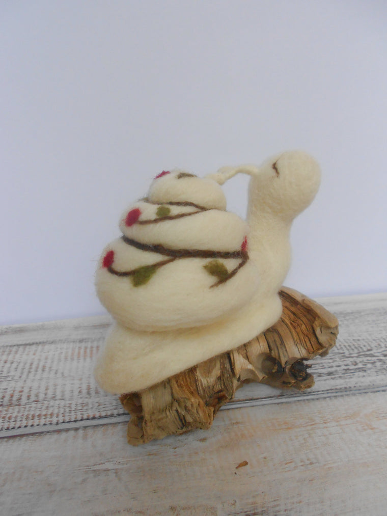 Snail decoration - Needle felted snail