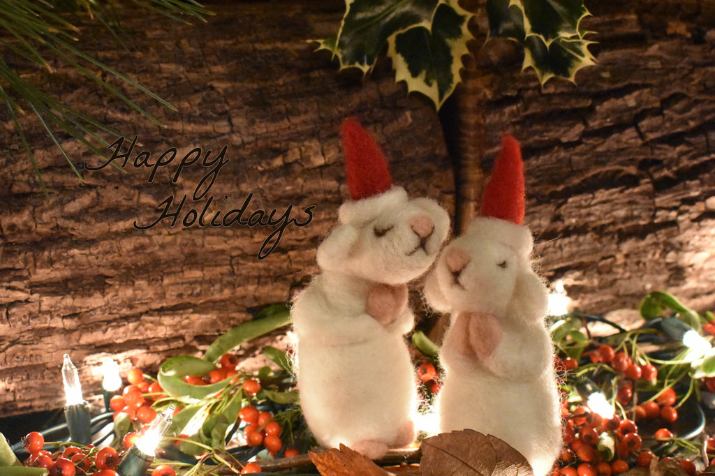 Praying mouse, Felt mouse, Holiday decoration, Christmas decoration
